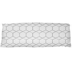 Honeycomb   Diamond Black And White Pattern Body Pillow Case (dakimakura)