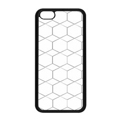 Honeycomb   Diamond Black And White Pattern Apple Iphone 5c Seamless Case (black) by picsaspassion