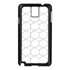 Honeycomb   Diamond Black And White Pattern Samsung Galaxy Note 3 N9005 Case (black) by picsaspassion