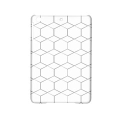 honeycomb - diamond black and white pattern iPad Mini 2 Hardshell Cases by picsaspassion