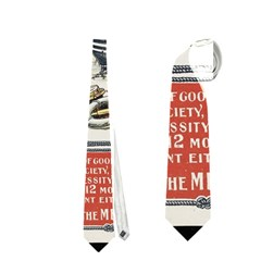 Vintage Advertisement British Navy Marine Typography Neckties (two Side)  by yoursparklingshop