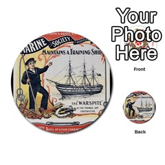Vintage Advertisement British Navy Marine Typography Multi-purpose Cards (Round)  by yoursparklingshop