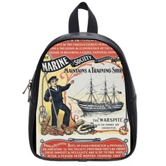Vintage Advertisement British Navy Marine Typography School Bags (small)  by yoursparklingshop