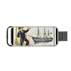 Vintage Advertisement British Navy Marine Typography Portable USB Flash (One Side) by yoursparklingshop