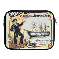 Vintage Advertisement British Navy Marine Typography Apple Ipad 2/3/4 Zipper Cases by yoursparklingshop