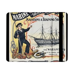 Vintage Advertisement British Navy Marine Typography Samsung Galaxy Tab Pro 8 4  Flip Case by yoursparklingshop