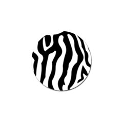Zebra Horse Skin Pattern Black And White Golf Ball Marker (10 Pack) by picsaspassion