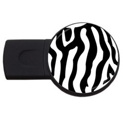 Zebra Horse Skin Pattern Black And White Usb Flash Drive Round (4 Gb)  by picsaspassion