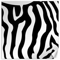 Zebra Horse Skin Pattern Black And White Canvas 20  X 20