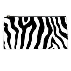 Zebra Horse Skin Pattern Black And White Pencil Cases by picsaspassion