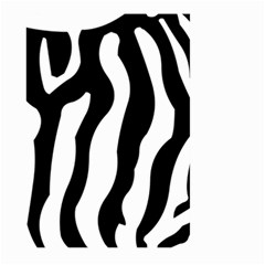 Zebra Horse Skin Pattern Black And White Large Garden Flag (two Sides) by picsaspassion