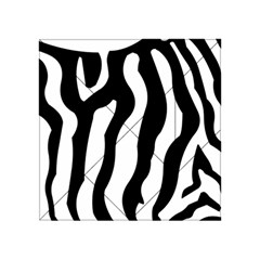 Zebra Horse Skin Pattern Black And White Acrylic Tangram Puzzle (4  X 4 ) by picsaspassion