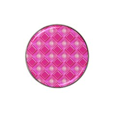 Pink Sweet Number 16 Diamonds Geometric Pattern Hat Clip Ball Marker (4 Pack) by yoursparklingshop