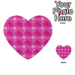 Pink Sweet Number 16 Diamonds Geometric Pattern Multi Purpose Cards (heart)  by yoursparklingshop