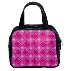 Pink Sweet Number 16 Diamonds Geometric Pattern Classic Handbags (2 Sides) by yoursparklingshop