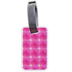 Pink Sweet Number 16 Diamonds Geometric Pattern Luggage Tags (two Sides) by yoursparklingshop