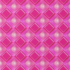 Pink Sweet Number 16 Diamonds Geometric Pattern Magic Photo Cubes by yoursparklingshop