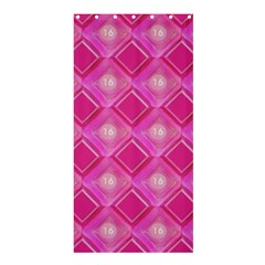 Pink Sweet Number 16 Diamonds Geometric Pattern Shower Curtain 36  X 72  (stall)  by yoursparklingshop