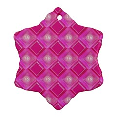 Pink Sweet Number 16 Diamonds Geometric Pattern Snowflake Ornament (2 Side) by yoursparklingshop