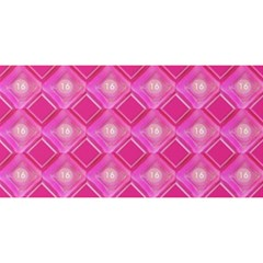 Pink Sweet Number 16 Diamonds Geometric Pattern You Are Invited 3d Greeting Card (8x4) by yoursparklingshop