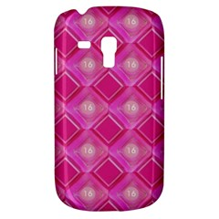 Pink Sweet Number 16 Diamonds Geometric Pattern Samsung Galaxy S3 Mini I8190 Hardshell Case by yoursparklingshop