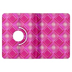 Pink Sweet Number 16 Diamonds Geometric Pattern Kindle Fire Hdx Flip 360 Case by yoursparklingshop