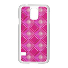 Pink Sweet Number 16 Diamonds Geometric Pattern Samsung Galaxy S5 Case (white) by yoursparklingshop