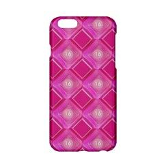 Pink Sweet Number 16 Diamonds Geometric Pattern Apple Iphone 6/6s Hardshell Case by yoursparklingshop