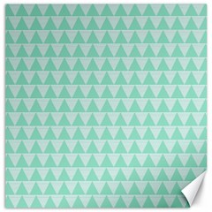 Mint Color Triangle Pattern Canvas 12  X 12   by picsaspassion