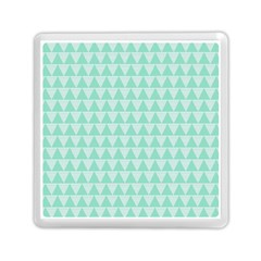 Mint Color Triangle Pattern Memory Card Reader (square)  by picsaspassion