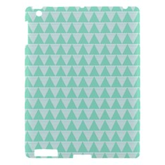 Mint Color Triangle Pattern Apple Ipad 3/4 Hardshell Case by picsaspassion