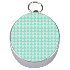 Mint Color Triangle Pattern Silver Compasses by picsaspassion