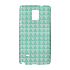 Mint Color Triangle Pattern Samsung Galaxy Note 4 Hardshell Case by picsaspassion