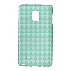 Mint Color Triangle Pattern Galaxy Note Edge by picsaspassion