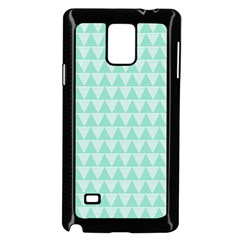 Mint color triangle pattern Samsung Galaxy Note 4 Case (Black) by picsaspassion