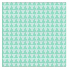 Mint Color Triangle Pattern Large Satin Scarf (square) by picsaspassion