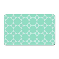 Mint Color Star   Triangle Pattern Magnet (rectangular) by picsaspassion