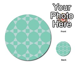 Mint Color Star   Triangle Pattern Multi Purpose Cards (round)  by picsaspassion