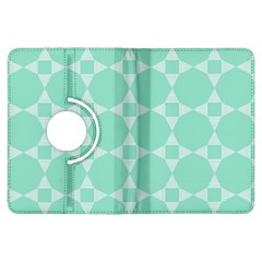 Mint color star - triangle pattern Kindle Fire HDX Flip 360 Case by picsaspassion