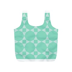 Mint Color Star   Triangle Pattern Full Print Recycle Bags (s)  by picsaspassion