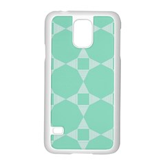 Mint Color Star   Triangle Pattern Samsung Galaxy S5 Case (white) by picsaspassion