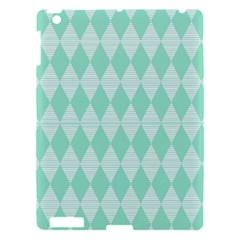 Mint Color Diamond Shape Pattern Apple Ipad 3/4 Hardshell Case by picsaspassion