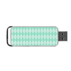 Mint Color Diamond Shape Pattern Portable Usb Flash (one Side) by picsaspassion