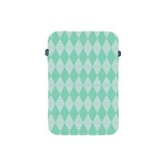 Mint Color Diamond Shape Pattern Apple Ipad Mini Protective Soft Cases by picsaspassion