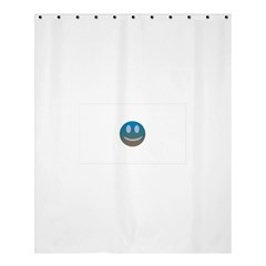 Smiley Shower Curtain 60  X 72  (medium)  by picsaspassion