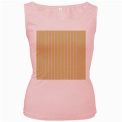 Summer Sand Color Pink Stripes Women s Pink Tank Top by picsaspassion