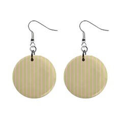 Summer Sand Color Pink Stripes Mini Button Earrings by picsaspassion