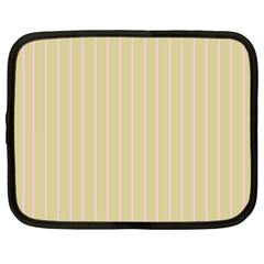 Summer Sand Color Pink Stripes Netbook Case (xl)  by picsaspassion