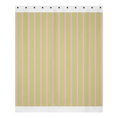 Summer Sand Color Pink Stripes Shower Curtain 60  X 72  (medium)  by picsaspassion