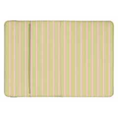 Summer Sand Color Pink Stripes Samsung Galaxy Tab 8 9  P7300 Flip Case by picsaspassion